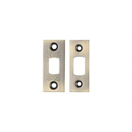Zoo Hardware Architectural Mortice Deadbolt Replacement Stirke Plates Florentine Bronze - ZLAP02FB